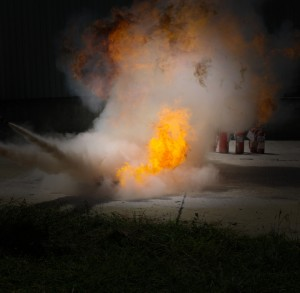 Hazardous fire suppression systems