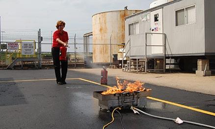 Fire Extinguisher Training Bucket